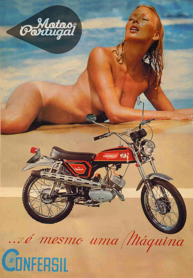 1975 advertising of Confersil 304 Trial - Portuguese sports moped