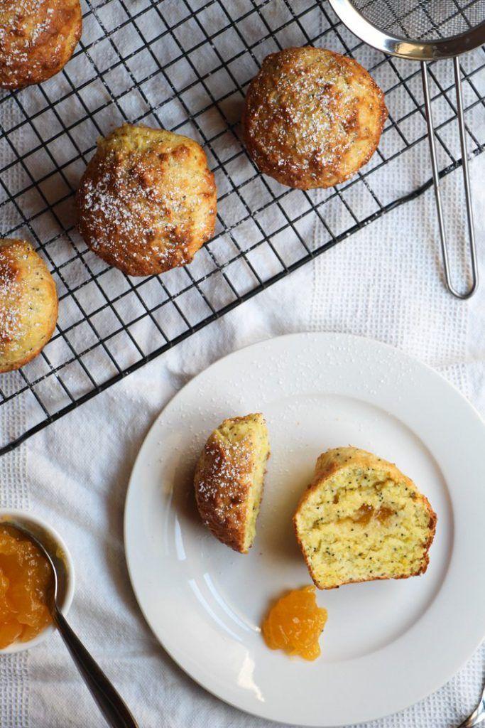 Poppy Seed Muffins with Lemon Curd - Liliana Battle