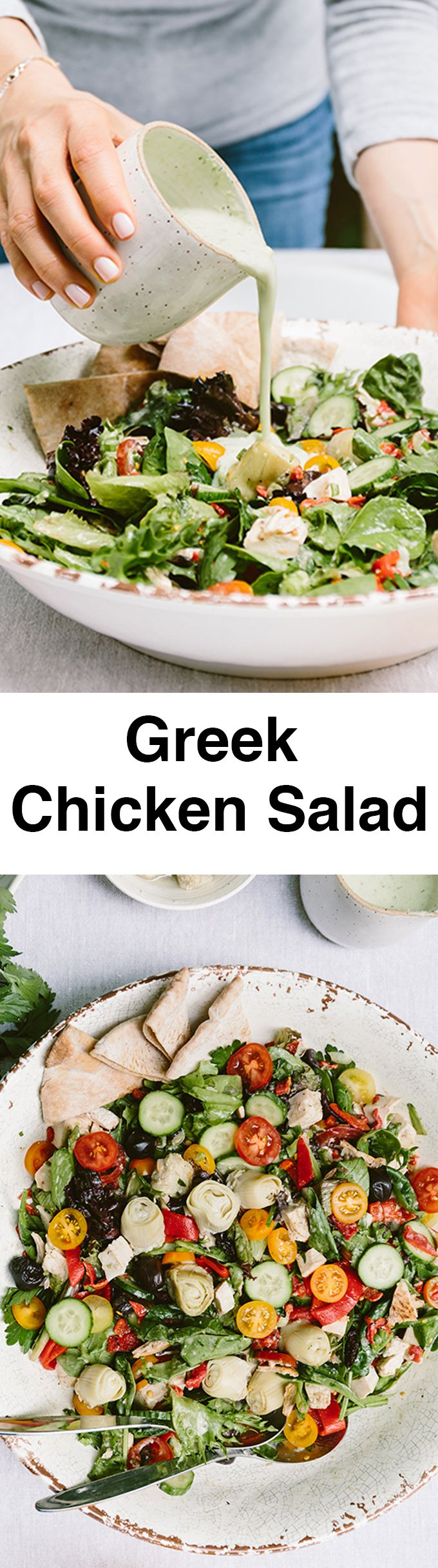 Greek Yogurt Chicken Salad is a refreshing, satisfying and kid friendly meal for summer weeknights. It's super easy to make and my carnivore family devours the whole salad each time I make it. #sponsored