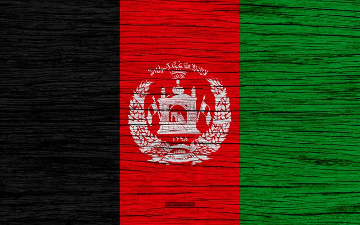 Download wallpapers Flag of Afghanistan, 4k, Asia, wooden texture, national symbols, Afghanistan flag, art, Afghanistan