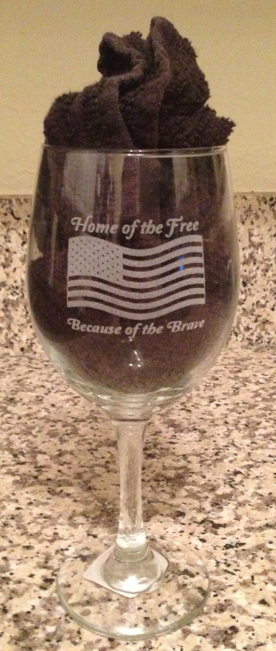 Use Paper To Fill Glass To Highlight Etching 4th Of July