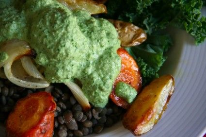 The Culinary Cyclist's Vegan Kale and Garlic Cream Sauce recipe: