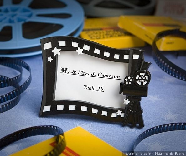 Segnaposto di matrimonio a tema cinema