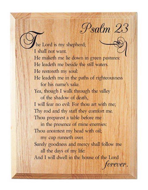Psalm 23 Alder Wood Plaque