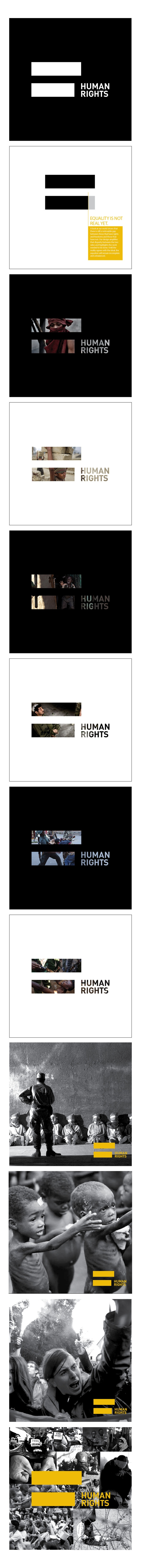 Human Rights - Uneqaul Sign by Assia Merazi, via Behance