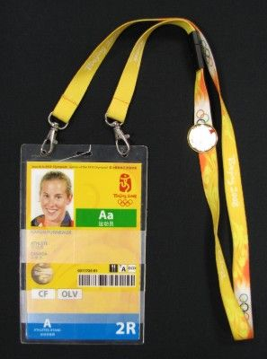 Karen Furneaux's ID badge, Beijing 2008. Nova Scotia Sport Hall of Fame collection, Halifax