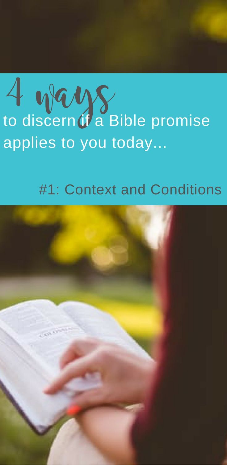 Understanding God's Promises | Is This Promise for Me? part 1: Context and Conditions | Bible study tips | Scripture Confident Living