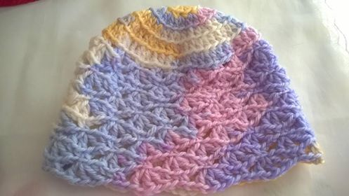 3 - 6 months, pure wool, 8 ply - $10 @ the market or plus postage. (Front)