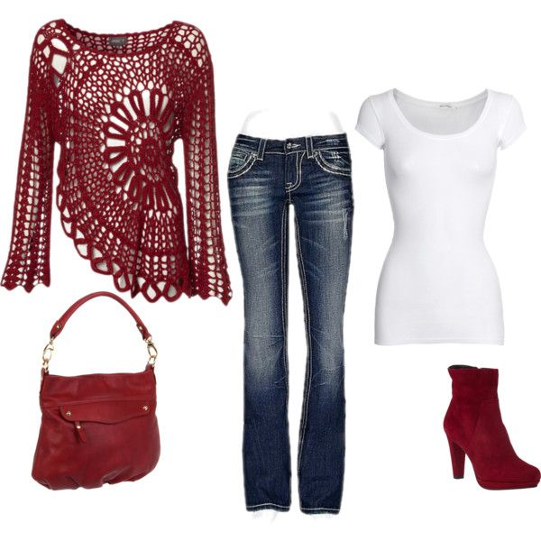 Red suede by leisa-708 on Polyvore featuring American Vintage, Miss Me, Gastone Lucioli and Pietro Alessandro