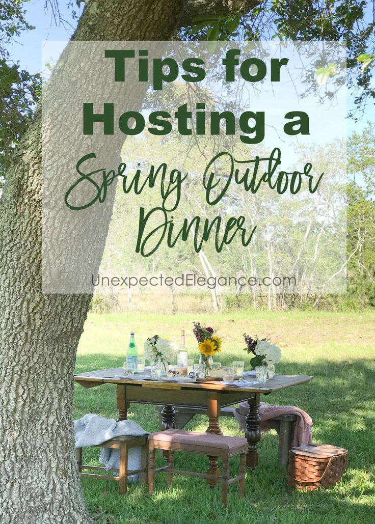 Tips For Hosting A Spring Outdoor Dinner