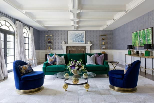 Owned By A Young Family This Living Room From Jenn Feldman Designs Evokes A Sense Of L Living Room Designs Jewel Tone Living Room Decor Jewel Tone Living Room Living room ideas young family