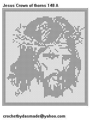 filet crochet letters - Jesus