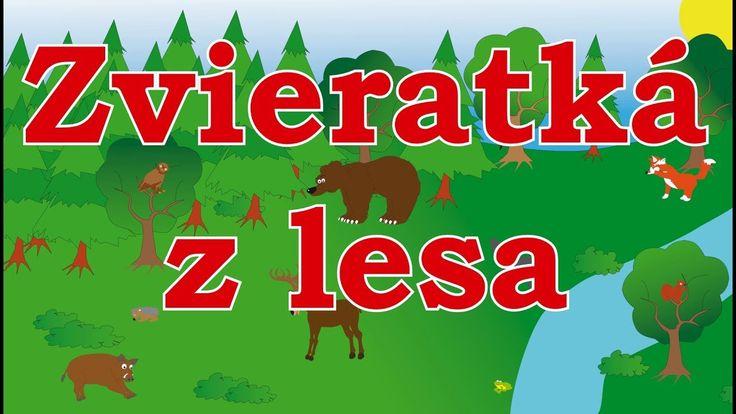 🐿🇸🇰 Zvieratká z lesa - animované zvuky zvierat pre deti a najmenších - zvuky zvierat žijúcich v lese