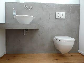 Man könnte auch die Wände in Beton machen und den Boden wild fliesen