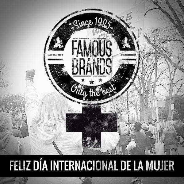 Madres, esposas, hijas, compañeras, vecinas, abuelas, hermanas, cuñadas, amigas…desde FAMOUS BRANDS os queremos felicitar vuestro día. ***!FELIZ DÍA INTERNACIONAL DE LA MUJER¡*** www.famousbrands.es #mujer #igualdad #trabajo #compromiso