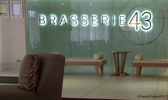 Brasserie 43 Thistle Hotel London - #selectAmaker finds this handy for the station.