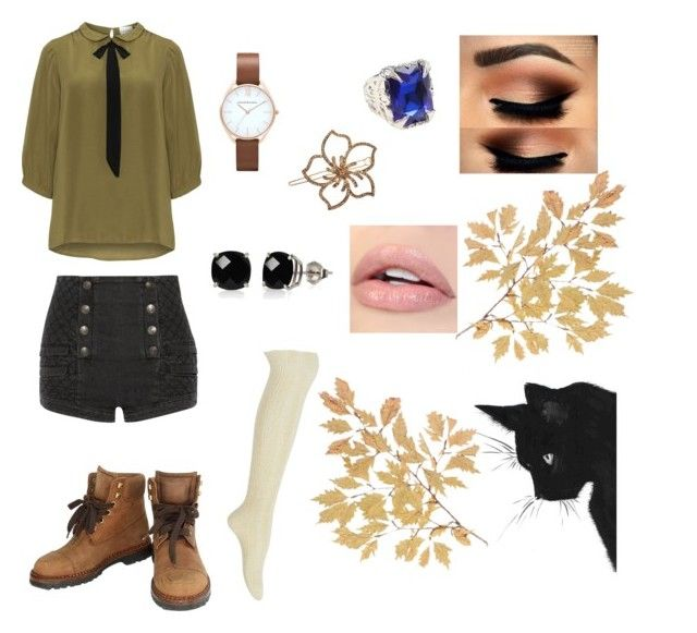 """""""Black Butler~Oc Lilith outfit2"""" by souleater64 ❤ liked on Polyvore featuring JunaRose, Pierre Balmain, Hue, Chanel, L. Erickson, Belk & Co. and plus size clothing"""