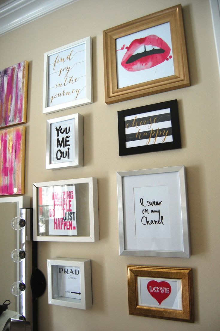 Gallery Wall & DIY Gold Leaf Canvas Art