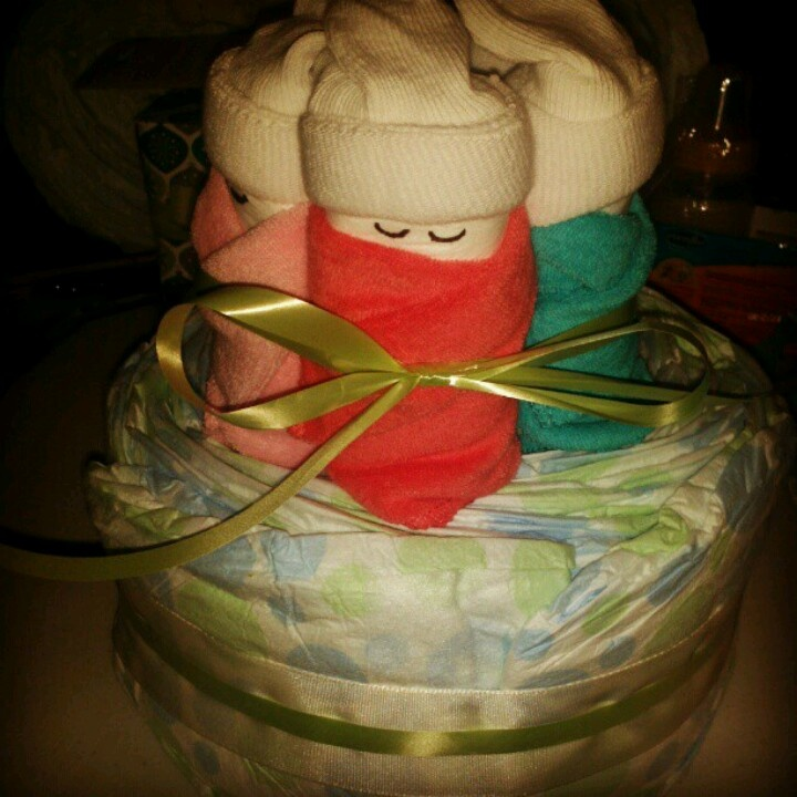 Pin Sleeping Baby Diaper Cake Directions Pic 25 Cake On