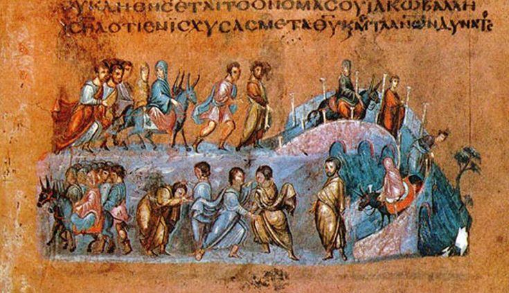 Znalezione obrazy dla zapytania byzantine manuscript