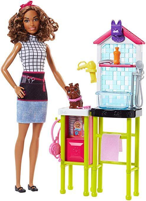 Barbie Fjb31 Tierfriseurin Puppe Und Spielset Barbie Puppen