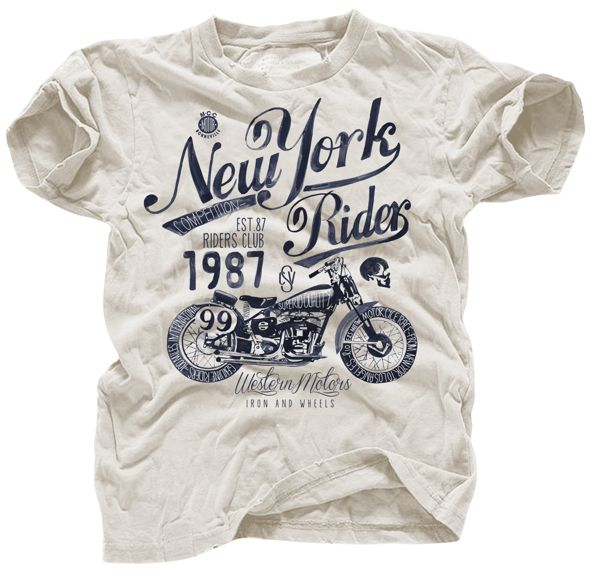 """""""new york rider"""" t shirt"""