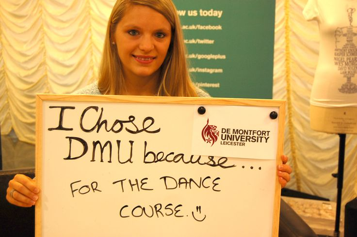 A first year student tells us why she chose De Montfort University Leicester.