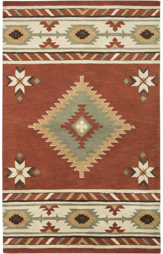 $5 Off when you share! Rizzy Rugs Southwest SU1822 Navajo Red Rug | Southwestern Rugs #RugsUSA