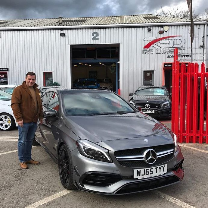 Lovely chap was our Mark from Leicester he came to view our black Mercedes A45 AMG but couldn't resit this stunning Mountain Grey AMG when he seen it it was a pleasure to meet you and Pauline today. - If you've a similar spec'd AMG A45 for sale talk to us. - - - - - #RSDirect #mercedes #amg #a45 #a45amg #mercedesa45 #mercedesa45amg #carporn #carswithoutlimits #carsofinsta #carsofinstagram #itswhitenoise #yate #bristol #queensquare