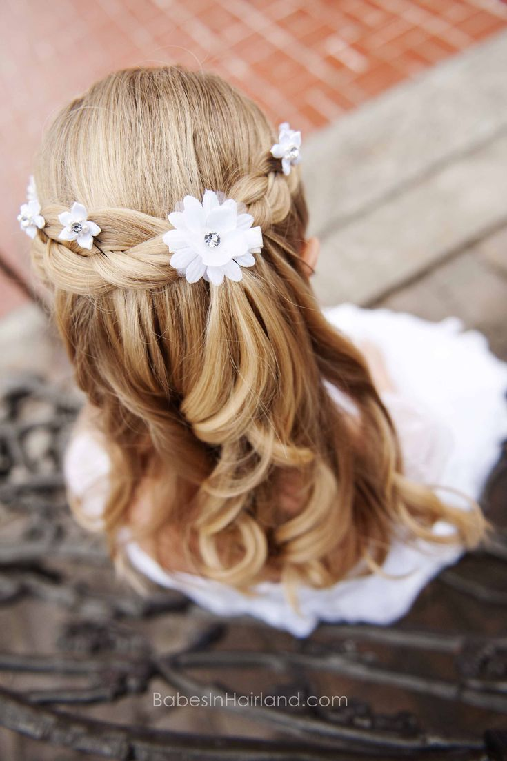 Baptism Hairstyle from BabesInHairland.com