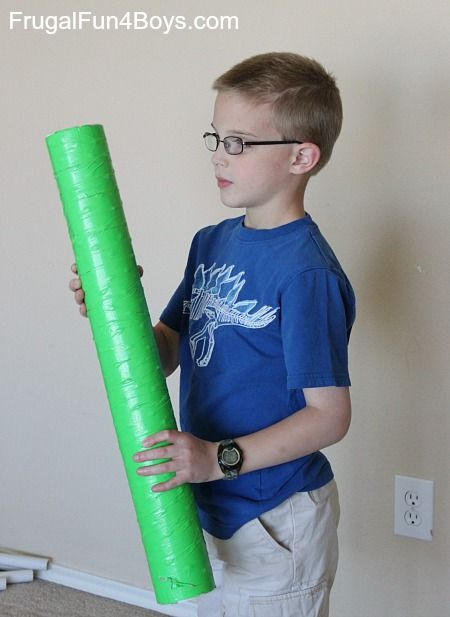 How to make a large rain stick musical instrument out of a mailing tube.
