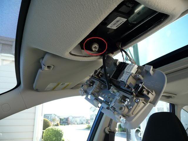 '08-'09 WRX Auto Dimming mirror /w compass install - NASIOC
