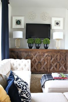 Decorating The Space Around A Wall Mounted TV