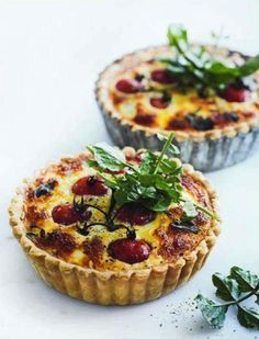 Tomato & goat cheese quiches.