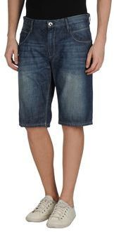 $54, Navy Denim Shorts: Datch Denim Bermudas. Sold by yoox.com. Click for more info: https://lookastic.com/men/shop_items/211206/redirect