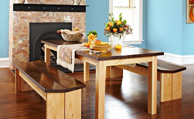 You (yes, you!) can build this table and bench set for $145.