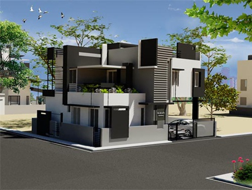 Murali 39 S Independent Bungalow Front Elevation By Ashwin Architects In