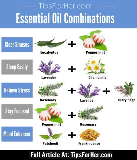Aromatherapeutic essential oil combinations to keep you calm, relaxed and to put you in a better mood.
