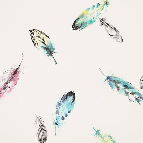 Buy John Lewis Feathers Wallpaper, Multi Online at johnlewis.com