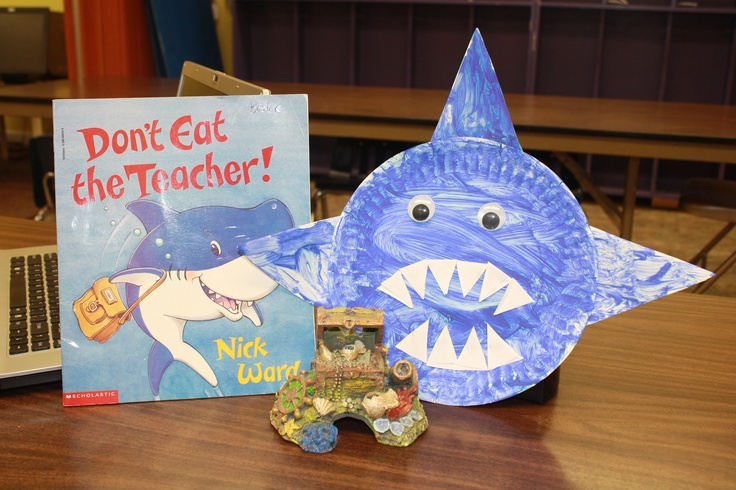 What a great way to have the kids learn their phone number!  After reading the book, we made our own shark using a paper plate, paint and paper shaped like triangles.  The child's phone number is written on the triangle.  They loved the book and the craft that went along with it!  I found the idea at http://preschoolbookclub.blogspot.com/2012/08/kindergarten-is-fin-tastic.html