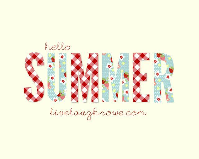 """Free """"Hello Summer"""" Printable - livelaughrowe.com"""