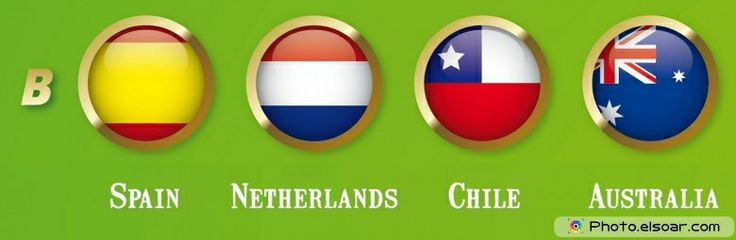 Designs For World Cup 2014 Teams Flags & Names Group B Names Flags 2014 World Cup: Spain, Netherlands, Chile, Australia