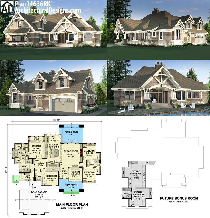 Plan 14636rk charming details architectural design for Home plans architect