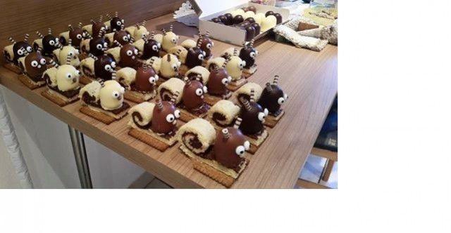 Schokokuss Schnecken mit Nutella Füllung