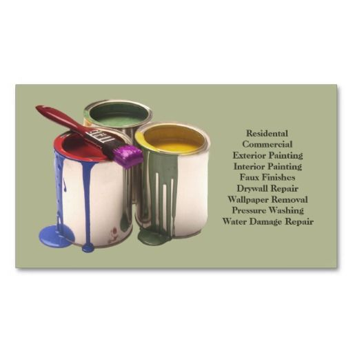 199 best images about Painter Business Cards on Pinterest