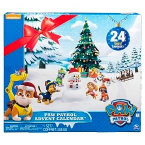 Paw Patrol is on a roll for the holidays! Count down to throughout the holidays with your favorite pups! Packed with 24 presents, this Paw Patrol Advent Calendar contains a special gift for each day for 24 days! Open each door and collect mini Paw Patrol figures!<br>• Count down to the holidays with the Paw Patrol Advent Calendar. There are 24 gifts for every day leading up to the big day!<br>• Open a door each day and reveal a new mini Paw Patrol figure!<br&g...