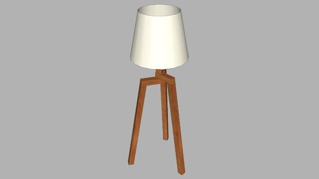 Large preview of 3D Model of floor lamp 01