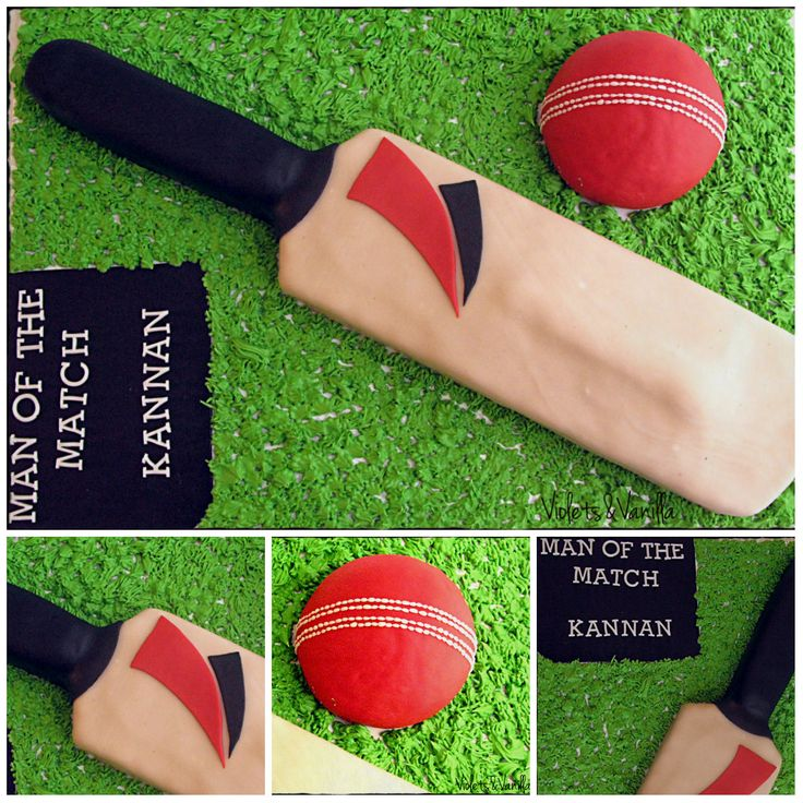 Birthday Cakes - Cricket Bat Cake
