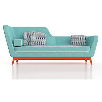 Mid century modern daybed - Eric Berthès Jeremie - (space era, atomic design, furniture) https://emfurn.com