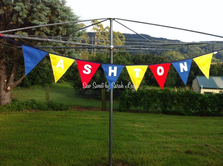 'Ashton' bunting, red/yellow/blue